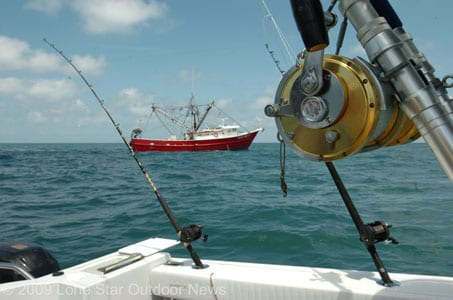 Anglers wanting to follow shrimp boats in the Gulf of Mexico off Texas will have to wait until sometime in June to resume using the method. Texas Parks and Wildlife is closing the season beginning May 15. Photo by David J. Sams, Lone Star Outdoor News.