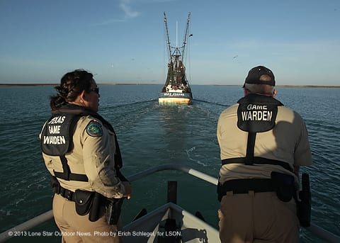 Tpwd game warden force accredited by boat program texas for Free fishing day texas