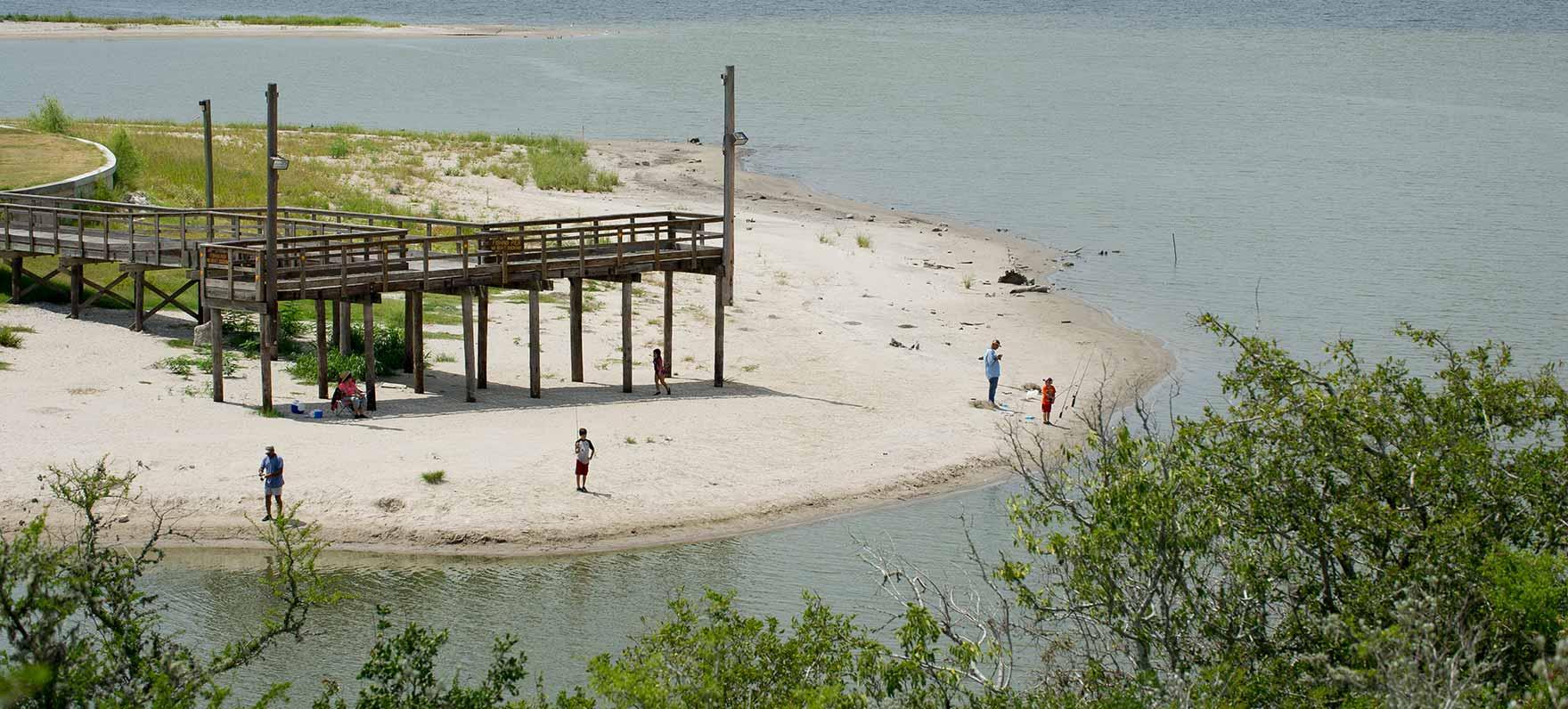 New fishing pier grand opening aug 11 at lake corpus for Fishing in corpus christi texas