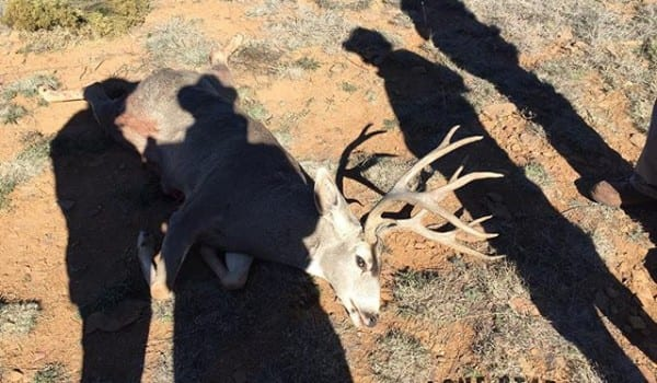 Happy hunters on the last morning. Mike Holley stuck it out and took a nice west Texas mule deer. Not too happy about leaving this place.