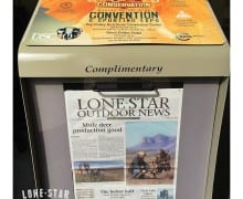 Lone Star Outdoor News will be in newsstand near you Friday. Pick one up and read all about it! You can also see it on LSONews.com