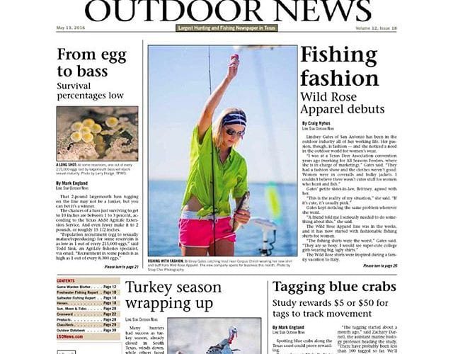 New issue out today. Check it out online www.lsonews.com or pick up a copy at your favorite fishing store. Print copies can be mailed to your house. @wildroseapparel