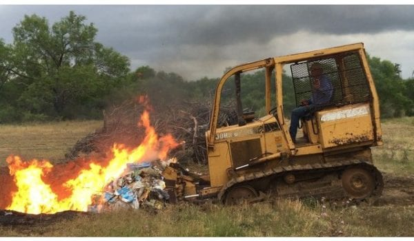 What do you do when it rains at the ranch? Burn