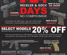 HK Days at 1-800Guns and Ammo.com Friday 9-6 in Arlington. 20% off selected HK guns. Stop by and check them out and visit with the HK rep.