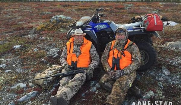 When you sit with the 4-wheeler running to keep warm in Quebec....our guide said that's a redneck heater. Tough hunting this week but we loved every minute.