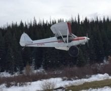 Bringing in the moose hunter at Big Meadow.