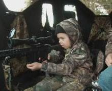 7-year-old girl shoots deer with AR-15