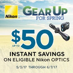 Nikon Gear Up Promo $50