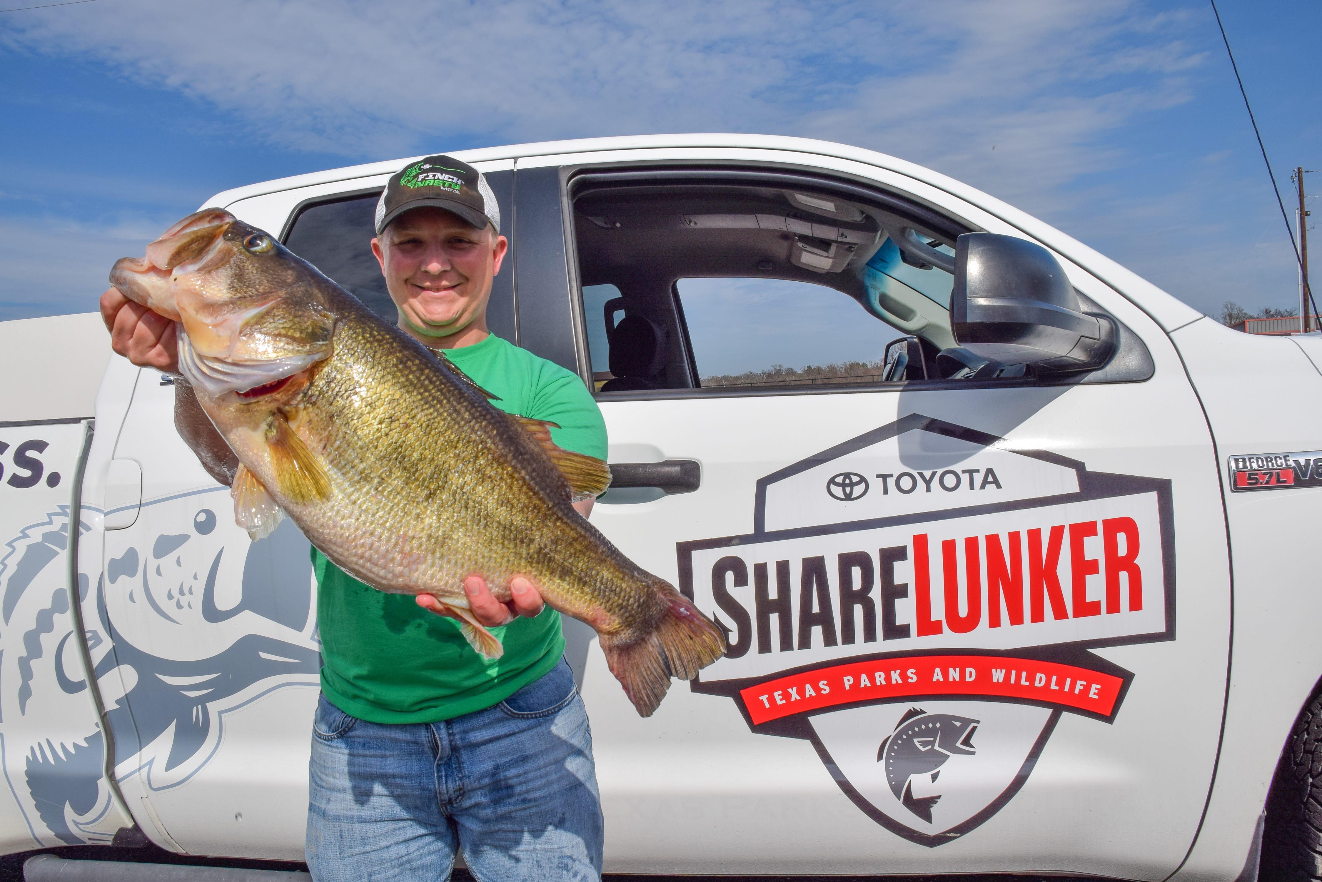 Another huge bass caught from lake fork texas texas for Tpwd fishing reports